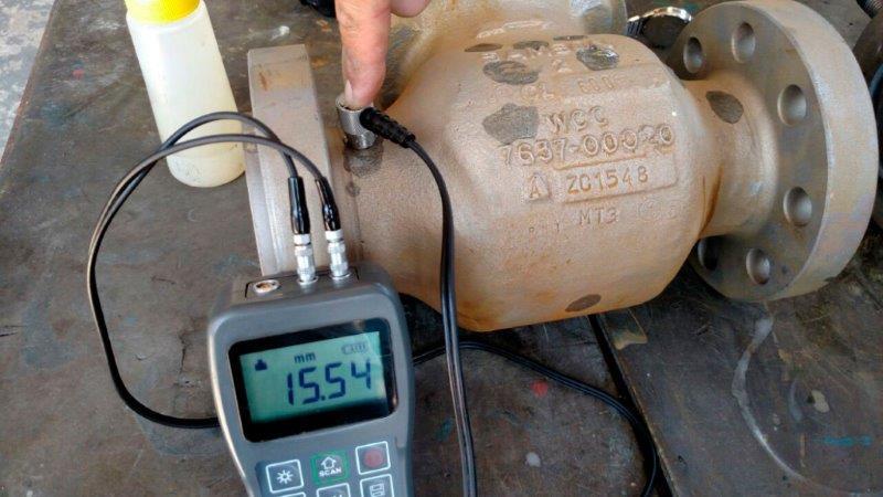 Medição de espessura por ultrassom