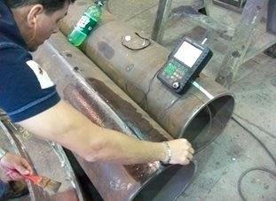 Ultrassom em chapas de aço